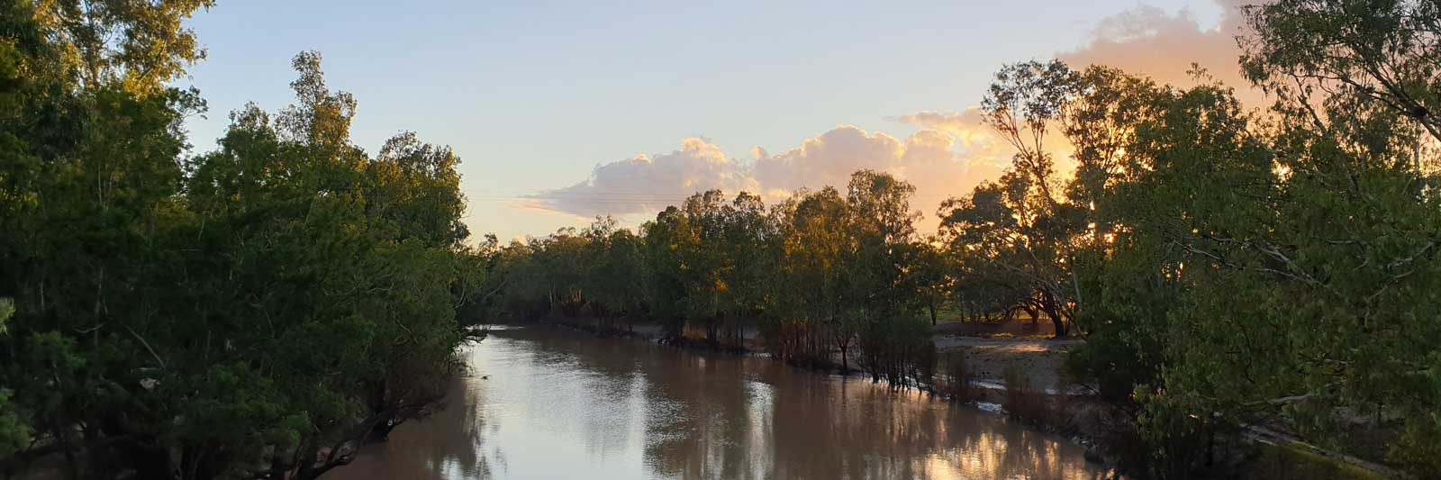 Sunrise at Balonne River