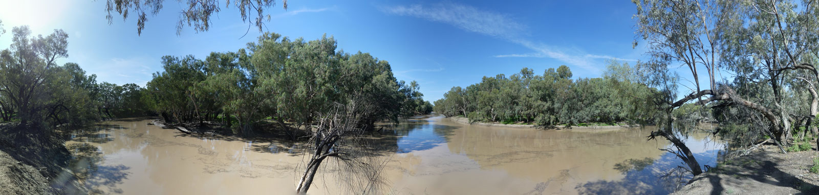 Convergence of the Culgoa and Barwon Rivers to form the Darling River